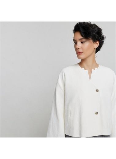 Yargıcı Iki Düğmeli Ceket Beyaz